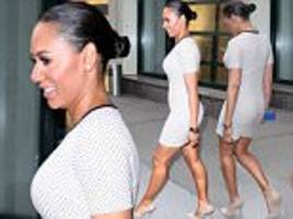 Mel B steps out in New York wearing figure-hugging dress